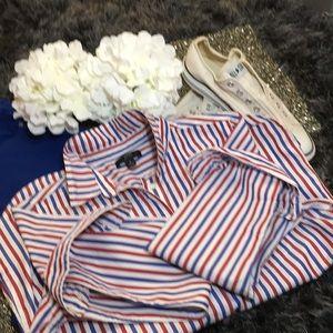 Red, White & Blue Stripe Blouse